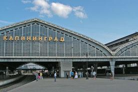 Bahnhof von Kaliningrad, ehemaliger Hauptbahnhof Königsberg in Ostpreußen