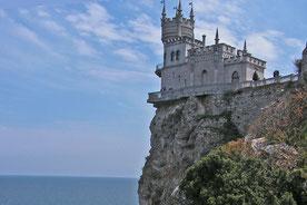Das Schwalbennest bei Jalta auf der Krim