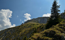 Alpen , Bayern , Deutschland , Gipfel , Berge , Wandern , Hüttentour , Mountains , Germany , Alps , Trekking Himmel , Wolken , Landschaft , Lanscape