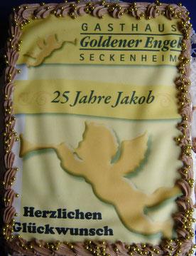 25 Jahre Goldener Engel Torte