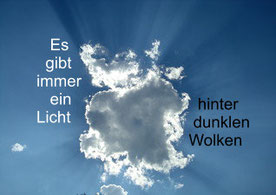 ... und die dunklen Wolken konnten sie selbst beiseite schieben. AVP Psychotherapie Landshut