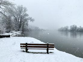 Winterwunderland Rhein. (Foto PC)