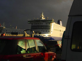 Abend-Stimmung am Fährhafen