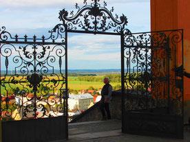 mehrteiliges Barock-Tor am östlichen Eingang