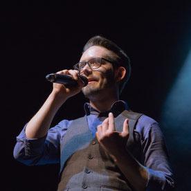 zwergriese2: Moderator Marius Hanke im Einsatz