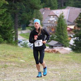 Tanja Bauer beim Zirbitzkogel-Berglauf 2018 (Foto zVg)