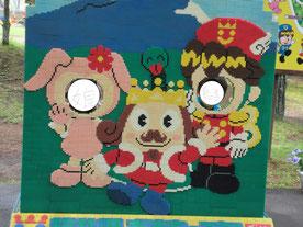ブロックでできたおもちゃ王国の王様
