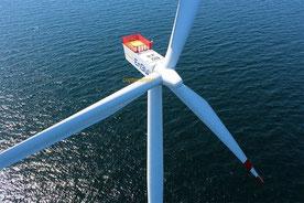 EnBW Windrad - Luftbild Offshore Windpark Baltic 2 Ostsee vor Rügen