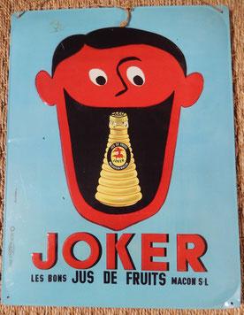 plaque publicitaire joker