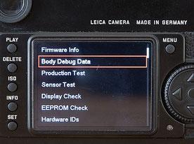 Auslesen der Auslösungen an der Leica M9, Debug Data, Klickzahl, Gebrauchtkauf. Leica Monochrom, M-E, M9-P