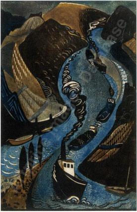 """Lill TSCHUDI (1911-2004) """"Rheinschlepper"""""""