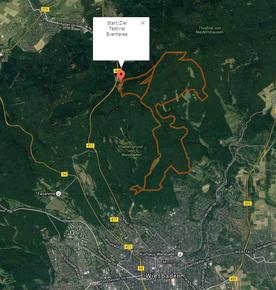 Strecke des Wiesbaden Trailrun (Halbmarathon)