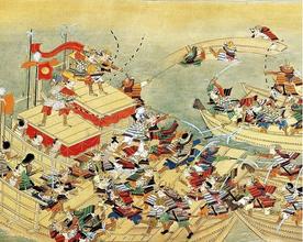 水島合戦の様子(林原美術館)