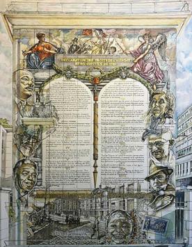 Fresque du collège de Sèvres sans Mère Teresa ni Josephine Baker.