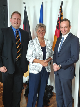 Michael J. Schwarz, MdL Helga Lerch, Minister Dr. Wissing