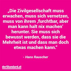 Hans Rauscher: Der Standard