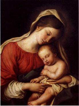 Giovanni Sassoferrato (1609-1685) 『聖母子像』/夫妻の居間に飾られていた絵画
