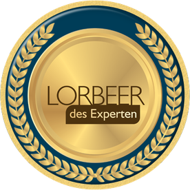 "Qualitäts-Award ""Lorbeer des Experten"""
