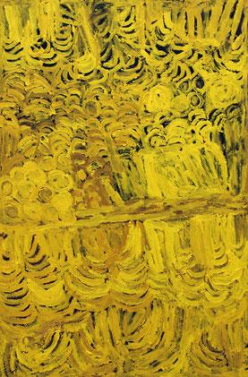 ソニア・クララ「女性の儀式」 アクリル 95x63cm