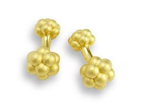 vergoldtete Manschettenknöpfe gildet cufflinks Bubbles kugeln blasen caviar fischlaich