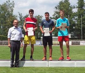 2. Platz Weitsprung, männl. Jugend: Florian Schulze