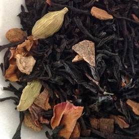Chai, Black Tea, Cardamom, Cinnamon, Ginger, Rose petals