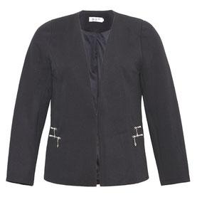 lässige Damen Jacke für Übergrößen, elegante Jacke in Gr 46
