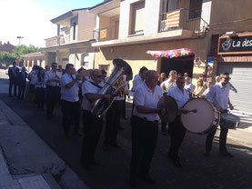 Concierto y procesión Fiestas San Roque 2015, El Burgo de Ebro