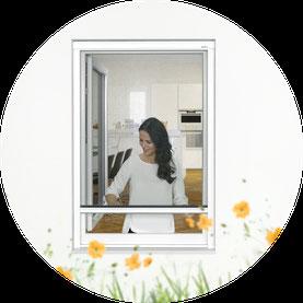 Fliegengitterrollo für Fenster und Dachfenster