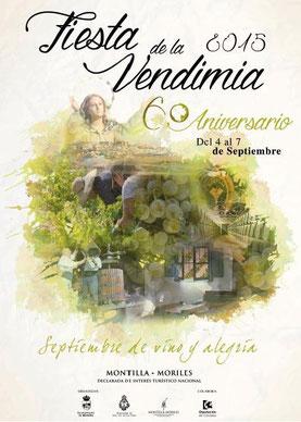 Fiesta de la Vendimia 2015 en Montilla Cartel y Programa