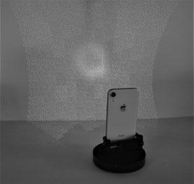 近赤外で見たiPhone True depth