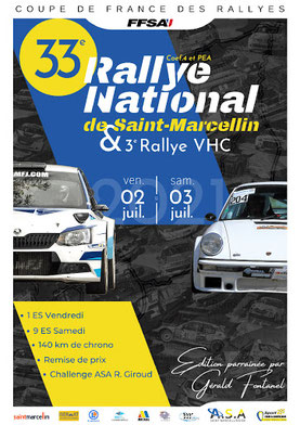 affiche rallye saint marcellin