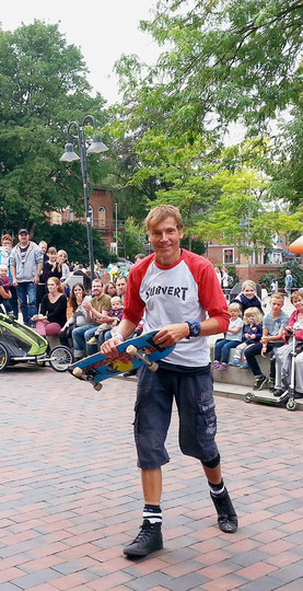 Guenter Mokulys, Skateboard-Show in Pinneberg.