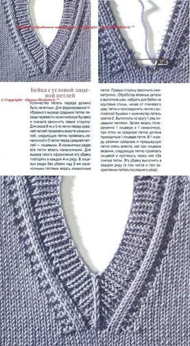 уроки вязания вязать ворот вырез полувера набор петель вязание ворот вязать свитор