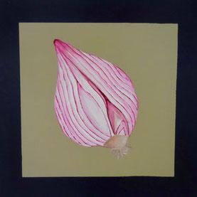 Oignon, 2015, Acrylic on canvas, 30 x 30 cm, Private collection