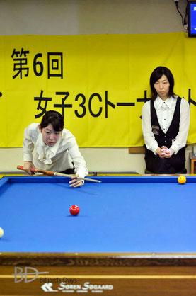 2位・肥田緒里恵(左)
