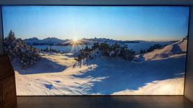 beleuchtete Wandbilder von Schweden Display