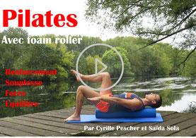 Cyrille Pescher -cours de Pilates en vidéos avec matériel foam roller (rouleau)