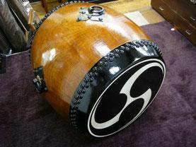 太鼓修理,和太鼓,胴長太鼓,張替,修理,前川楽器店