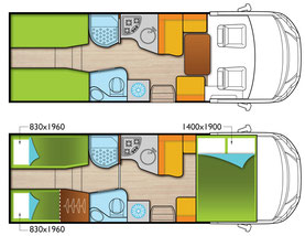 integrierte von forster reisemobil center l rrach gmbh. Black Bedroom Furniture Sets. Home Design Ideas