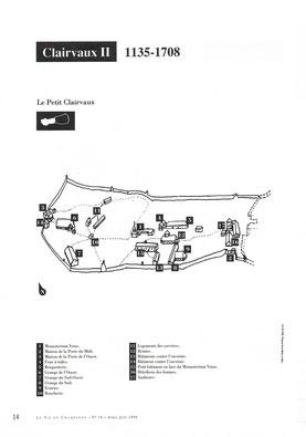 """Plan du """"Petit Clairvaux"""" (1115-1135) © La vie en Champagne."""