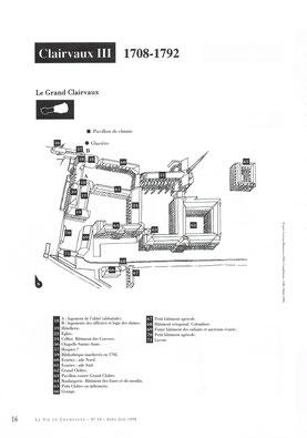 Plan de l'Abbaye du XVIIIè © La vie en Champagne.