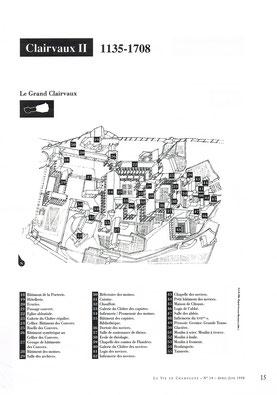 Plan de l'Abbaye médiévale (1135-1708) © La vie en Champagne.
