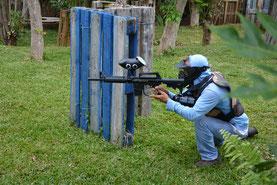 matériel BT4 Oméga customé M16 pour adultes et JT Z200 pour paintball enfant