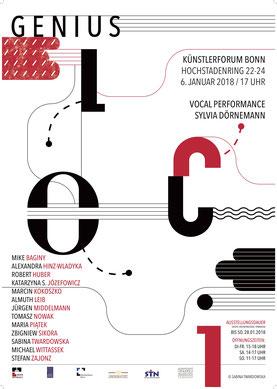 Genius loci, Deutsch-Polnische Künstlerbegegnung, Künstlerforum Bonn, Hochstadenring 22-24 / Vernissage: 6.1.2018 um 17 Uhr / Dauer: 28.1. 2018 Kuratoren: Stefan Zajonz & Alexandra Hinz-Wladyka