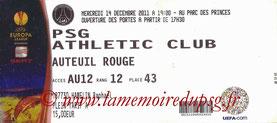 2011-12-14  PSG-Athletic Bilbao (6ème Journée Poule C3)