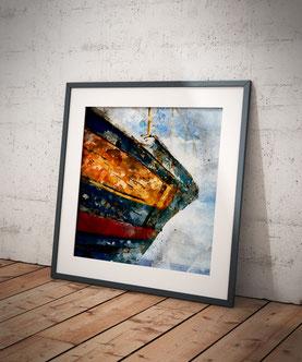 Altes Schiff am Meer