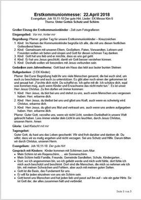 Messe Verlauf (PDF)