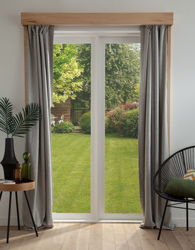projet design, Système rideau opaque, en bois d'érable syccomore.CCL ébéniste
