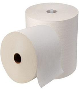 Caja de Toalla en Rollo Marca Propia.  6 rollos de 180 m Color blanca